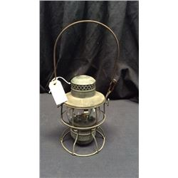 Armspear Pennsylvania Railroad 1925 Lantern Clear globe edged Pennsylvania RR