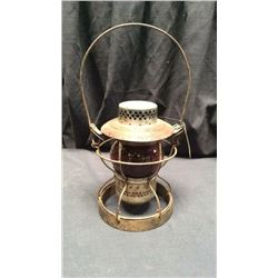 Handlan Nycs Railroad Lantern Red globe Marked the raised K circle, waited  bottom lantern