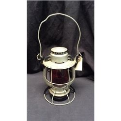 New York Deitz Vesta Lantern Red globe Marked New York Central