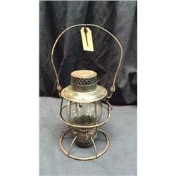 Deitz Volcan No. 39 Railroad Lantern Clear globe marked raised P.R.R.