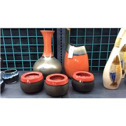 Set Of 5 Zodax Pottery Collection