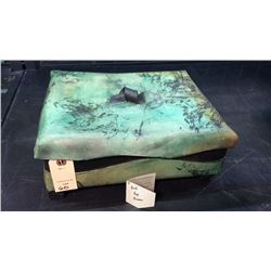 Pottery Box With Lid Signed Aron
