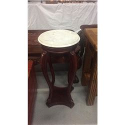 Marble Top Plant Stand