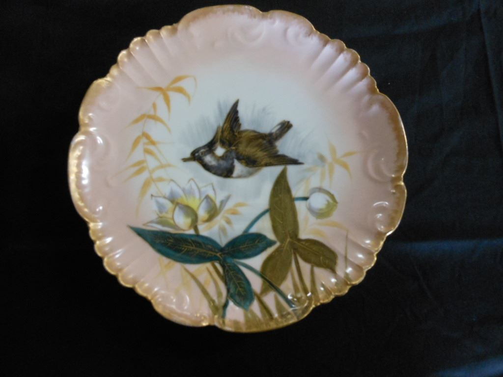 Antique Limoges Game Fowl Platter Plates This Is A