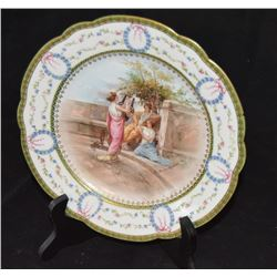 Decorative Servers Plate With Roman Scene As Originally Painted By The Italian Artist,  Andrea Appia
