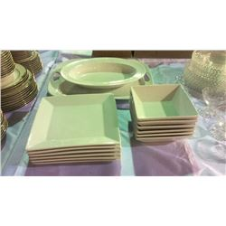 White Dish Set 14pc