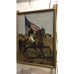 Large Oil on Canvas of General Andrew Jackson 46 1/2''T x 36''W