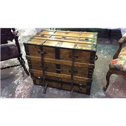 Early Steamer Trunk With Fitted Interior 27''T 32''W 21''D