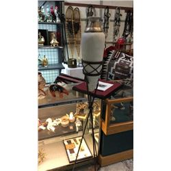 Pottery Vase In Iron Metal Stand 69''T