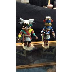 2-hand Made Indian Dancer Dolls Approx 8''t