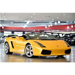 2008 Yellow Lamborghini Gallardo Convertible