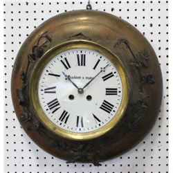 :Wall Clock with Malécot A. Paris Square Movement
