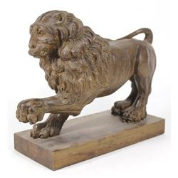 Carved Wood Lion