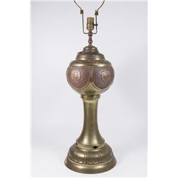 Asian Style Brass Table Lamp