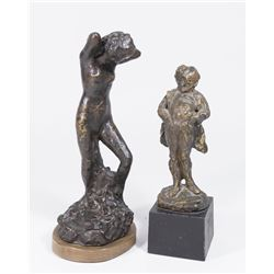 2 Bronze Clad Impressionist Style Statues