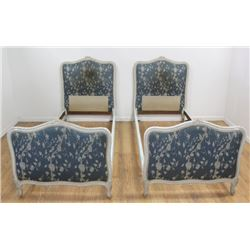Pair French Off-White Single Beds