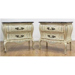Pair Ribbon Front Bombe John Widdicomb Commodes