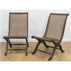 Pair Cane S Chairs