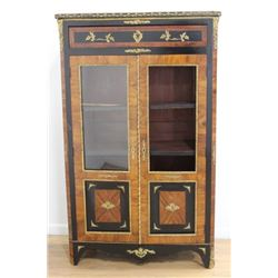 French Inlaid Brass Mounted Cabinet