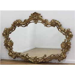 Gilded Contemporary Over Mantel Mirror