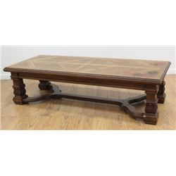 Inlaid Oak Arts & Crafts Style Coffee Table