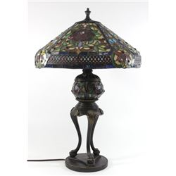Contemporary Tiffany Style Slag Glass Shade Lamp