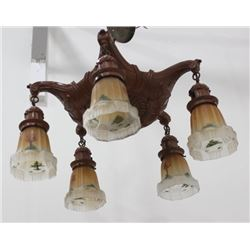 :Art Deco 5-Light Chandelier