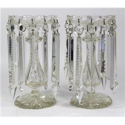 :Pair Cut Crystal Lustres with Prisms