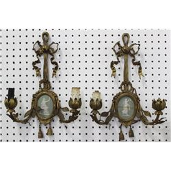 Pair Gilt Bronze French Sconces