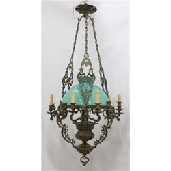 :Bronze Victorian 13-Light Chandelier