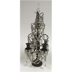 4-Light Bronze & Crystal Girandole