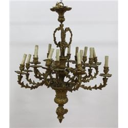 :Bronze 16-Light Chandelier