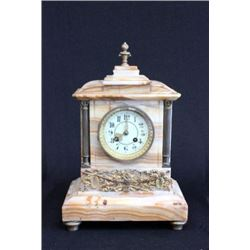 :Onyx & Bronze Mantel Clock
