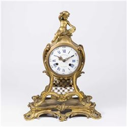 Bronze French Louis XV Style Reticulated Clock