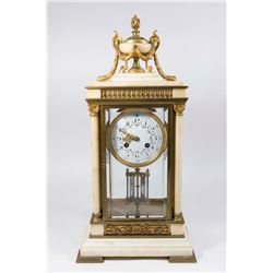 French Louis XVI Style Crystal Regulator Clock