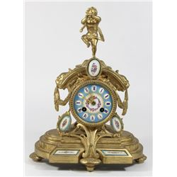 French Gilt Metal Clock