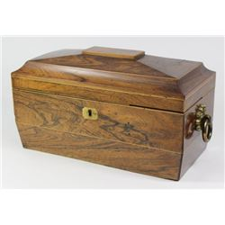 Rosewood 19th Century English Teapoy Tea Box