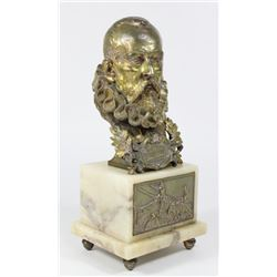 Gilt Bronze Bust of Cervantes