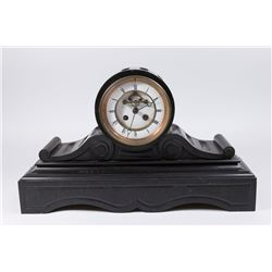 19th Century Black Marble Mantel Clock