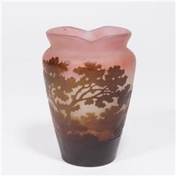 :Emile Galle Amethyst Color Cameo Glass Vase