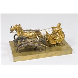 :Russian Gilt Bronze Troika
