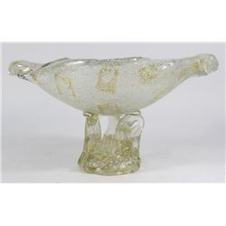 Venetian Gilt Soda & Clear Glass Centerpiece