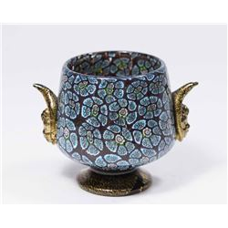 Small Venetian Gilt Millefiori Glass Cup