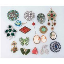 Tray Lot Vintage Costume Jewelry