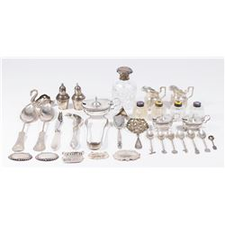 Group Lot Sterling & Continental Silver