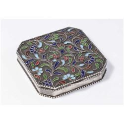 :Silver & Enamel Pillbox