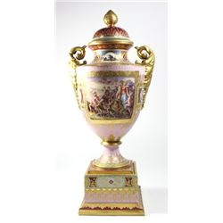 Royal Vienna Covered Urn with Mythological Scene