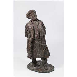 Bronze Judaica Sculpture, Orthodox Man