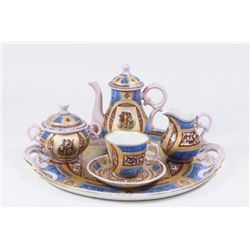 :Unsigned Handpainted Royal Vienna Breakfast Set