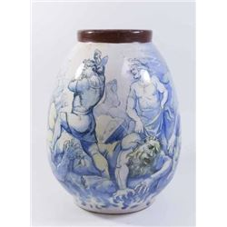 19th Century Glazed Pottery Vase